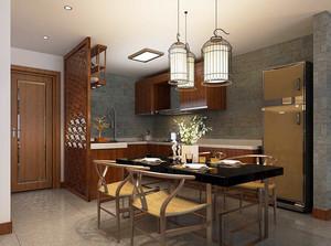 中式风格小户型厨房隔断装修效果图
