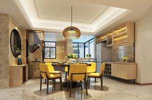 现代中式风格厨房餐厅隔断设计装修效果图