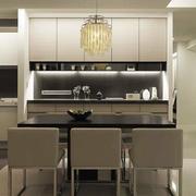 现代简约风格小户型餐厅吊灯设计装修效果图