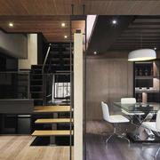 现代简约风格小复式楼室内楼梯设计装修效果图