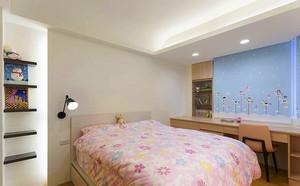 24平米现代简约风格女生儿童房设计装修效果图