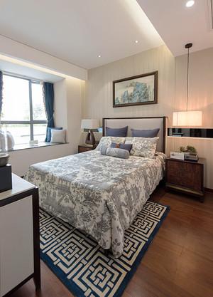 美式田园风格大户型室内卧室装修效果图