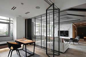 后现代简约风格大户型室内客厅隔断装修效果图