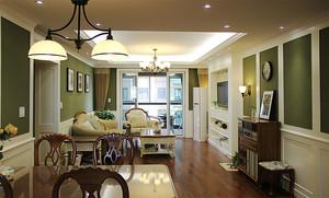 现代简约美式风格精致两居室室内装修效果图