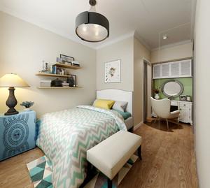 20平米欧式田园风格卧室装修效果图
