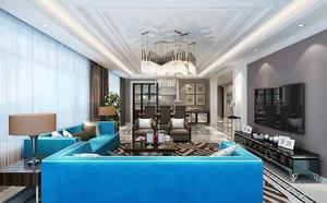 现代中式风格精致大户型室内装修效果图赏析