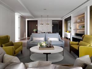 156平米现代简约风格三室两厅一卫装修效果图赏析