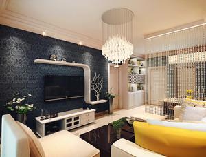 60平米后现代简约风格小公寓装修效果图