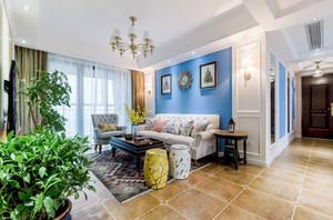 现代简约美式风格三室两厅一卫装修效果图赏析