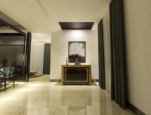 新中式风格精致典雅两室两厅室内装修效果图