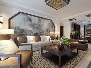 146平米中式风格三室两厅一卫装修效果图鉴赏