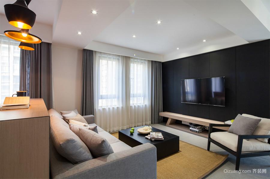 109平米后现代风格两室两厅一卫室内装修效果图