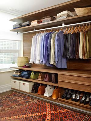 三室一厅简约东南亚风格衣帽间装饰