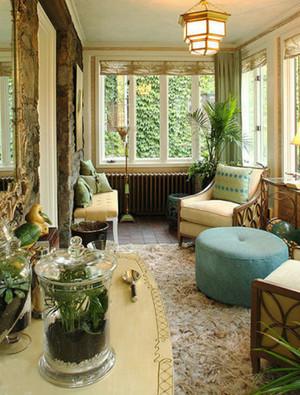 2016欧式别墅型入户花园装修效果图实例