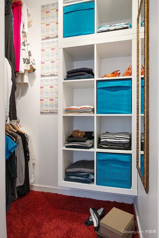 公寓精致简约整体衣帽间设计效果图