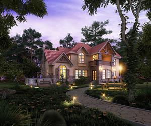 260平米欧式风格两层别墅外观效果图鉴赏