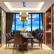 欧式风格大户型室内餐厅吊顶装修效果图鉴赏