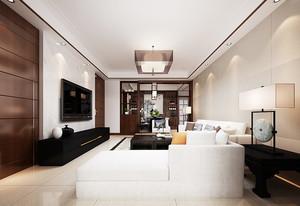 现代简约风格大户型室内客厅组合电视柜装修效果图