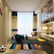 现代简约风格儿童房卧室装修效果图赏析