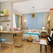 20平米日式简约风格儿童房间装修效果图