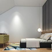 现代简约风格别墅室内斜顶阁楼装修效果图
