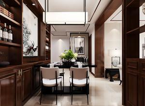 现代中式风格三居室室内酒柜装修效果图赏析