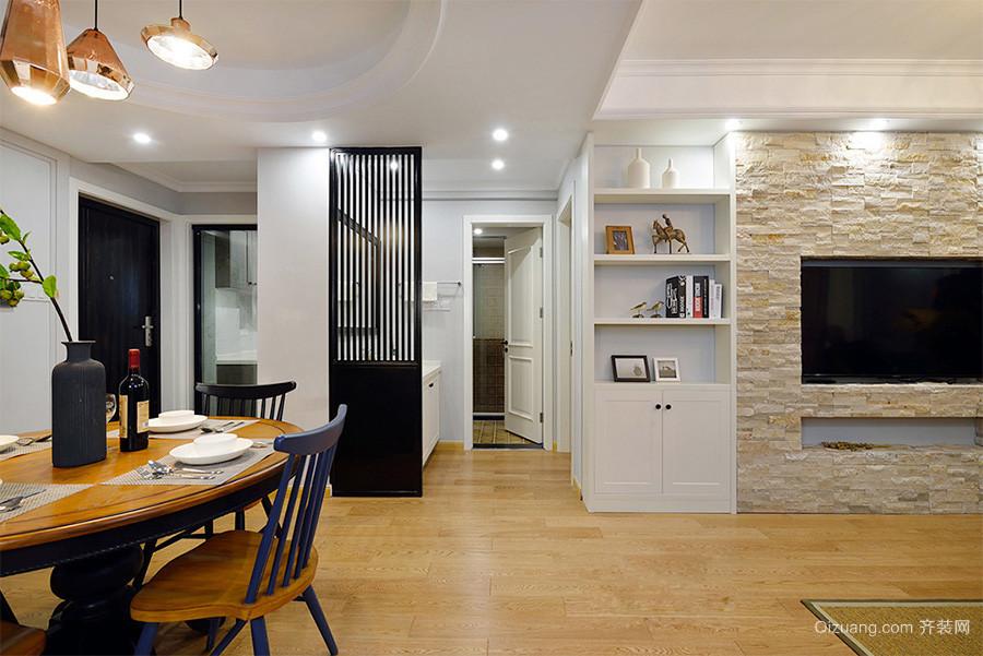 现代简约欧式风格三室两厅一卫装修效果图