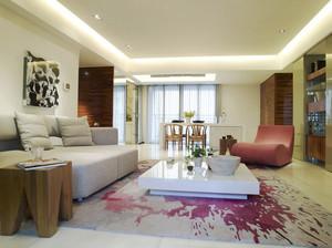 126平米现代简约风格两室两厅室内装修效果图赏析