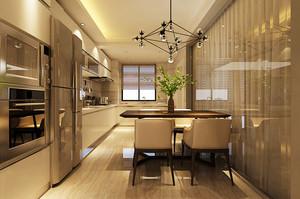 现代简约风格精致大户室内开放式厨房装修效果图