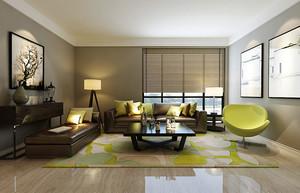后现代风格精致客厅沙发摆放设计效果图