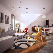 北欧风格复式楼室内楼梯装修效果图赏析