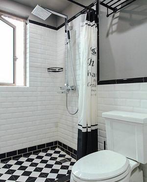 美式混搭风格两室两厅一厨一卫装修效果图