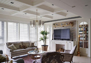 166平米美式田园风格两室两厅室内装修效果图赏析