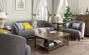 现代简约风格小户型客厅沙发摆放效果图