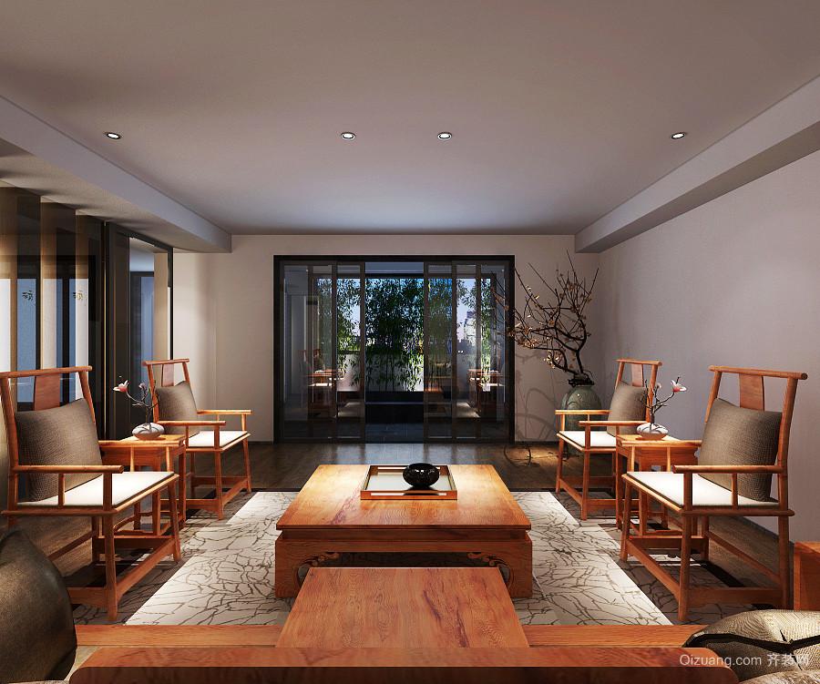 新中式风格大户型室内客厅茶几装修效果图鉴赏