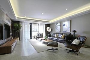 129平米现代简约风格两室两厅一卫装修效果图