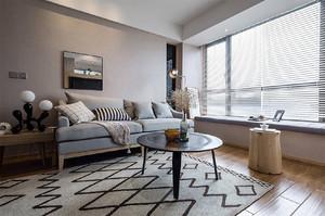 69平米现代简约风格两室两厅室内装修效果图