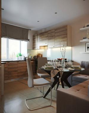 130平米现代简约风格两居室装修效果图赏析