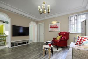 149平米现代简约美式风格三房两厅一卫装修效果图