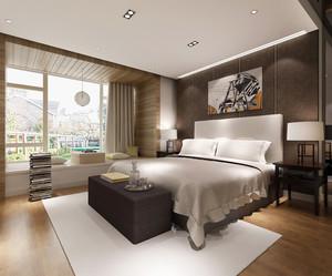 现代简约中式风格两室两厅室内装修效果图