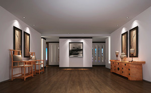 现代中式风格别墅进门玄关鞋柜装修效果图赏析