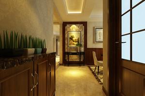 古典欧式风格大户型进门玄关设计装修效果图