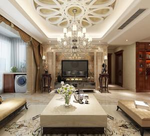 169平米古典欧式风格大户型室内设计装修效果图