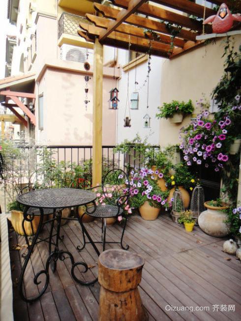 90平米大户型欧式入户花园装修效果图鉴赏