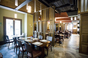 90平米东南亚简约风格餐厅设计装修效果图