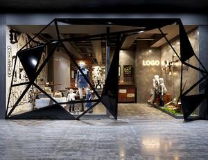 60平米后现代风格创意服装店装修效果图