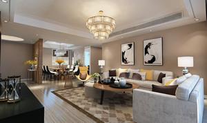 都市简约风格两室两厅一卫室内装修效果图赏析