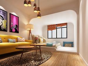 北欧风格小户型客厅卧室隔断装修效果图