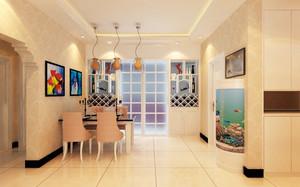 现代简约风格两居室室内厨房隔断门装修效果图