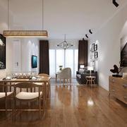 日式简约风格餐厅吊灯设计装修效果图